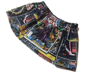Star Wars Skirt - Star Wars Comic Book Skirt - Girls Star Wars Skirt - Star Wars Baby Girl - Star Wars Girls - Star Wars Baby Gift