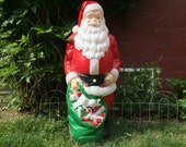 """RESERVED for Amy.  HUGE Blow Mold Santa Claus LG 47"""" Empire Christmas Lighted Decoration, Great Condition. Yard Ornament. Holiday Decor"""