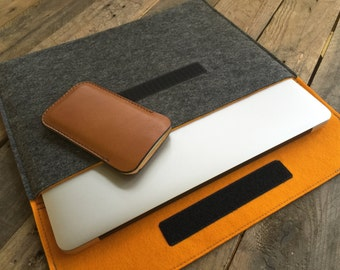 100% Wool Felt MacBook Case - MacBook Sleeve - Christmas Gift - Various Colour Options