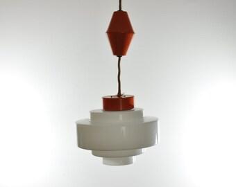 Orange Mid Century Pendant Light, Pendant Lighting, Ceiling Lighting, Ceiling Light, Mid Century Light, Mid Century Lighting, Pendant Lamp
