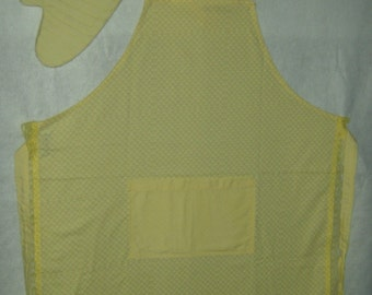 Yellow Apron with potholder