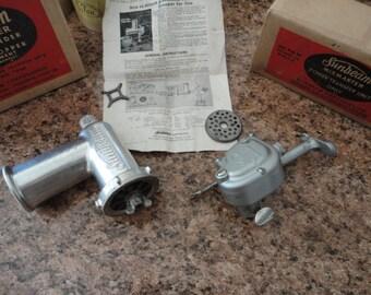 Vintage Sunbeam Mix Master Meat Grinder Food Chopper Attachment Fits All models Power Transfer Unit Model 10 In Original Boxes