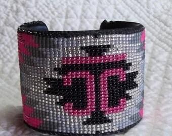 2 inch Beaded Cuff Bracelet