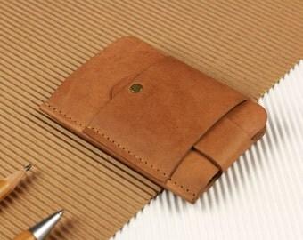 Gentleman slim wallet, leather vintage [V]