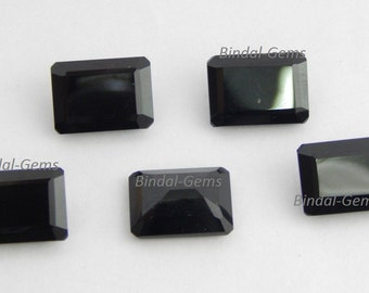Wholesale Lot 10 Pieces Amazing Black Onyx Octagon Faceted Cut Loose Gemstone For Jewelry