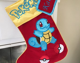 "Pokemon ""Squirtle"" Christmas Stocking"
