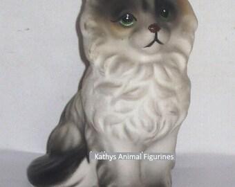 Japan Himilayan Siamese Persian Fluffy Cat Sitting Animal Figurine