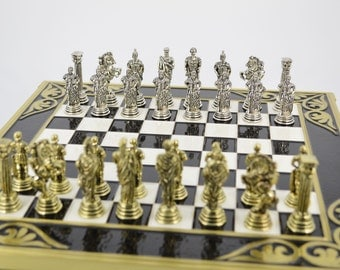 SUMMER SALE 20% OFF  Romans Chess set (28X28) / Bronze chess board