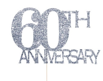 60th Anniversary Cake Topper, 60th Anniversary Decorations, 60th Wedding Anniversary, Diamond Anniversary, 60th Anniversary Party