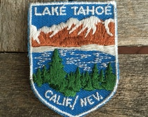 Lake Tahoe California/Nevada Vintage Souvenir Travel Patch by Voyager