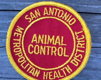 San Antonio Animal Control Uniform Patch Patch