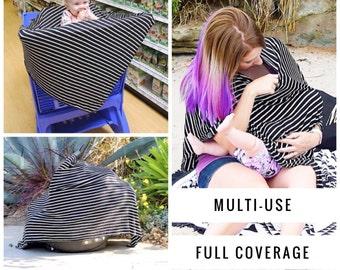 SALE Nursing Cover Poncho | Nursing Cover | Breastfeeding Cover Nursing, Breastfeeding poncho, Nursing top, Classic stripes