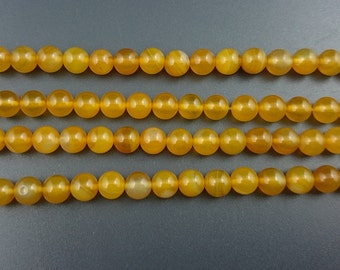yellow agate beads, round agate gemstone beads semi precious beads wholesale 6mm 8mm 10mm