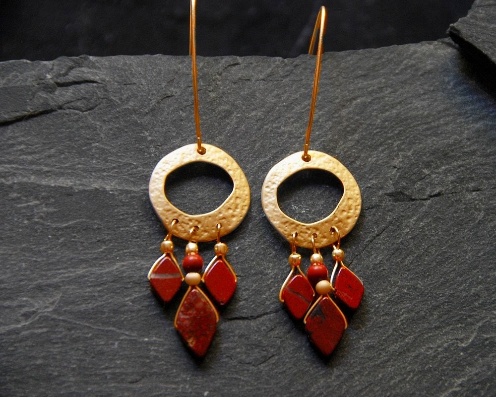 Unique Chandelier Earring Long Statement Earrings Gold And