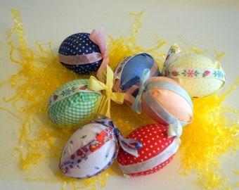 Vintage Handmade Cloth Eggs