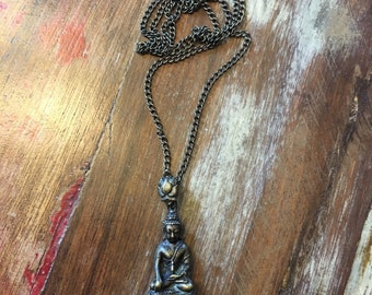 Namasté - Bronze Buddha Pendant Necklace