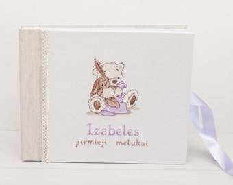Personalized baby photo album, baby memory book, custom baby book