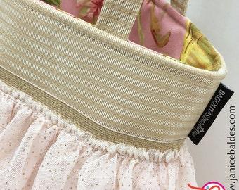 soft pink ballerina BAGOLITA tote with gold flecks