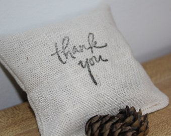 Thank You gift balsam fir sachet