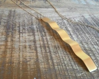 Long Pendant, Long Pendant Necklace, Long Gold Necklace, Long Dainty Necklace