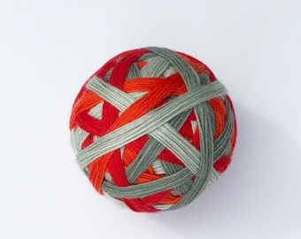 MISTLETOE - vibrant hand dyed self striping sock yarn