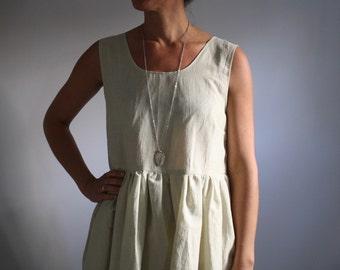Prairie Ruffle Dress - mint green M/L