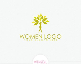 Woman health Logo - Feminine tree health Logo - peace and health lifestyle