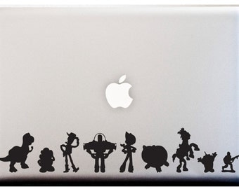 LAPTOP Decal TOY STORY Silhouette Stripe Decal Stickers Car Decal Disney Theme Decal
