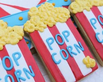 Carnival Circus Popcorn Cookies