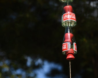 Wind Chime Crafted from Upcycled Coca-Cola Bottles Coke Bottle Garden Wind Chime