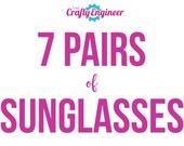 7 PAIRS -- Personalized Sunglasses, Custom Sunglasses, Bachelorette Sunglasses, Wedding Sunglasses, Bachelorette Gift, Wayfarer Sunglasses