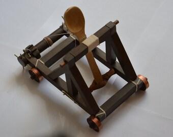 Handmade WORKING Desktop Catapult!