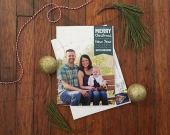 Banner Holiday Photo Postcard Design