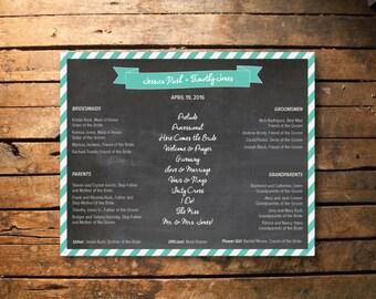 Wedding Program Poster Design