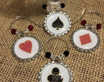 In The Cards Wine Glass Charms