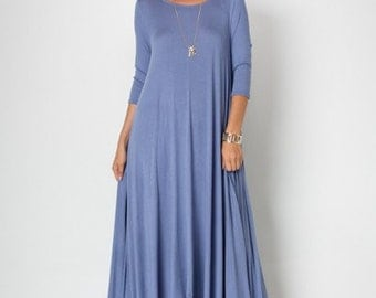Asymmetric Maxi, Asymmetric Long Dress,Asymmetric Pixie, Asymmetric Dress, Chambray Asymmetric,Blue Asymmetric Dress,Gift for Her,Gift Ideas