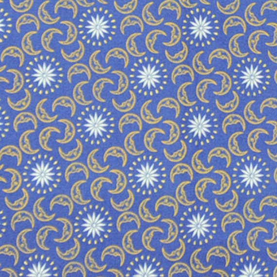 Modern wyimsical sun and moon design fabric self tie or for Sun and moon fabric