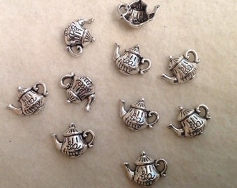 Tea Pot Charms (10)