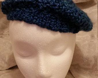 Hand crocheted beret