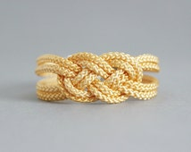 Yellow Golden Bracelet, Knot Bracelet, Rope Bracelet, Sailor Knot, Love Knot, Rope Knot Bracelet, Nautical bracelet, Knot,Nautical Knot