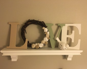 Wood Letters, Love Wood Letters, Love, Valentine's Day Decor, Vintage Love Letters, Rustic Holiday Decor, rustic home, Mantle Decor
