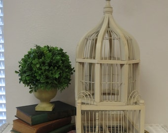 Wood and Wire Bird Cage .