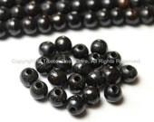 20 beads - Tibetan Black Bone Beads - 6mm - Tibetan Mala Beads - Mala Making Supplies - LPB77-20