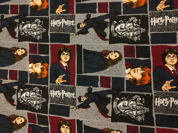Harry Potter Book Cover Fabric ~ Harry potter ron and hermione hogwarts school red fat