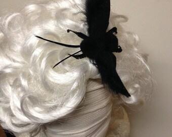 Fuzzy Moth Hair clip