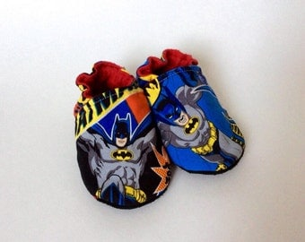 Batman slippers size 12-18 months with leather sole-slip infant / Baby slippers 12-18 months Batman