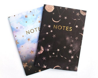 A6 Constellation stars notebook set