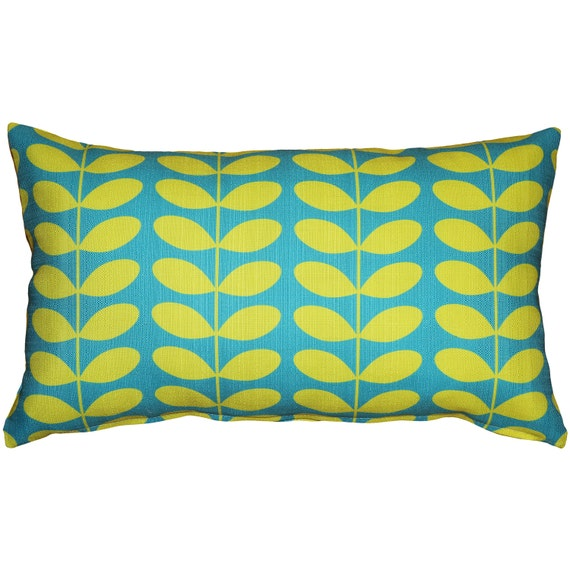 Mid Century Throw Pillow : Mid-Century Modern Turquoise Throw Pillow 12x20