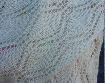 Alpaca mohair knit scarf