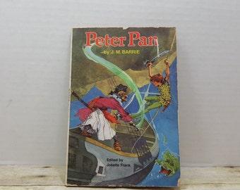 Peter Pan, 1957, J M Barrie, vintage kids book, disney book